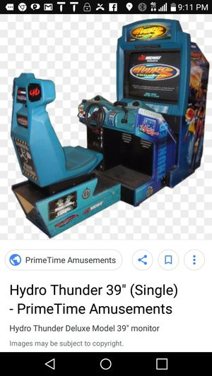 HYDRO THUNDER ARCADE MACHINE for Sale in Randallstown, MD