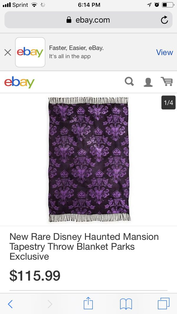 Haunted Mansion Disney Parks Throw Blanket Collectibles In Santee Cool Haunted Mansion Throw Blanket