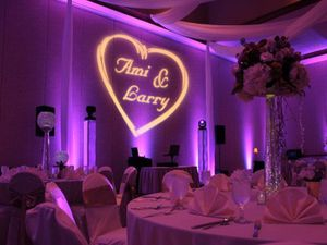 Wedding uplights and gobo/logo for Sale in Phoenix, AZ