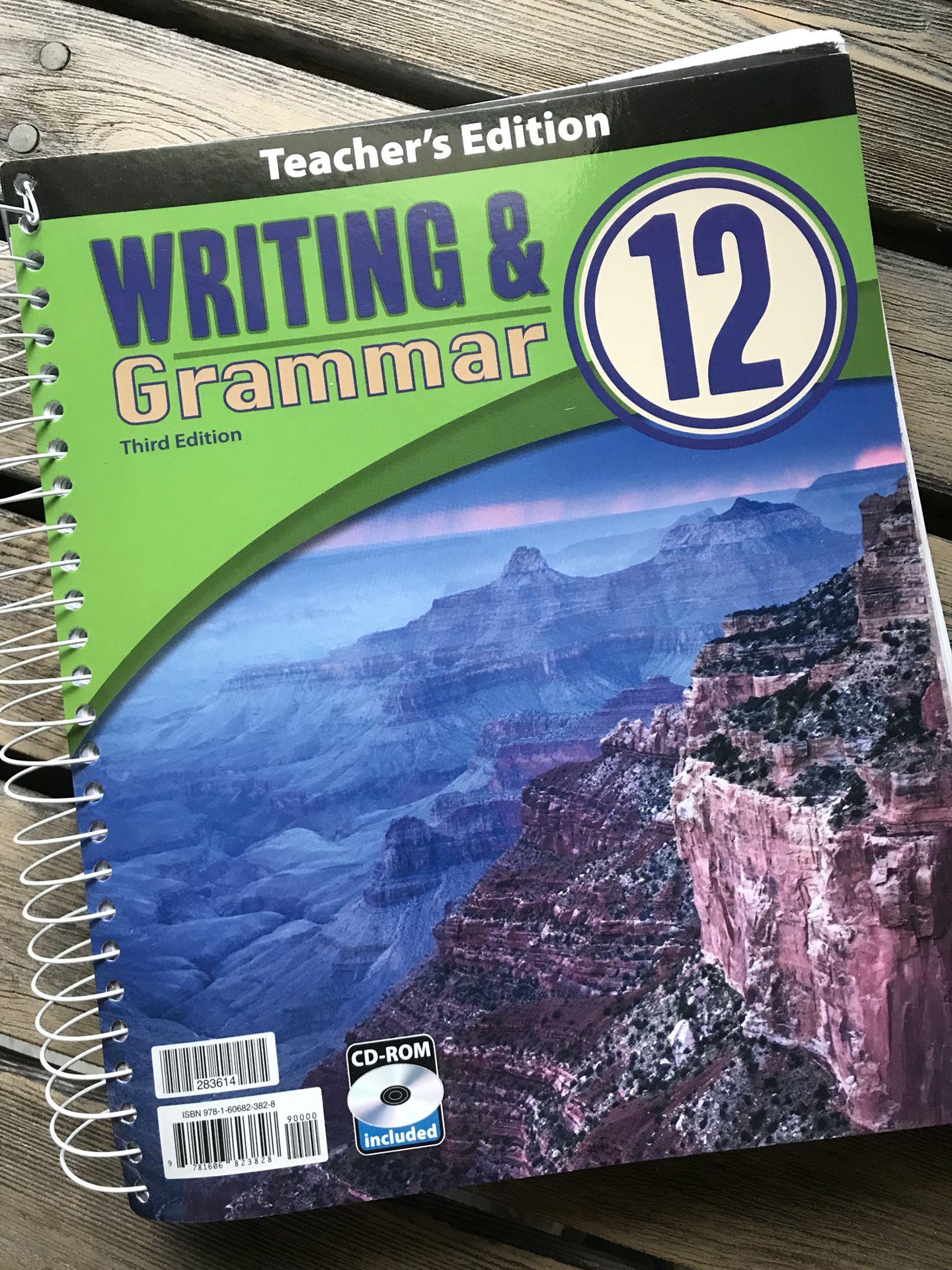 Writing & Grammar 12 Homeschool book