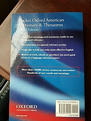 Pocket Oxford American dictionary for Sale in Schaumburg, IL - OfferUp