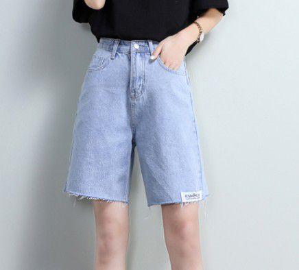 Denim shorts women summer high waist five-point jeans women-BB