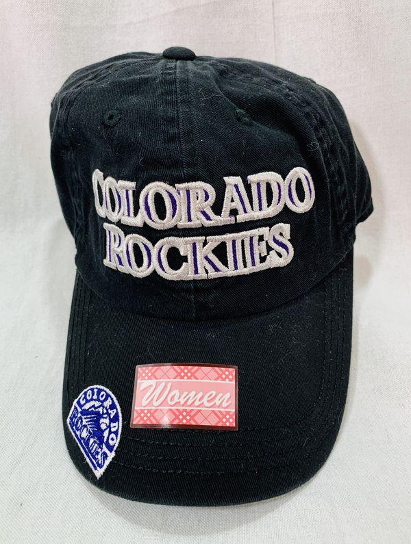 caea9471439 MLB Colorado Rockies FAN FAVORITE Womens Ladies Baseball Cap Hat  NEW  Black  NWT