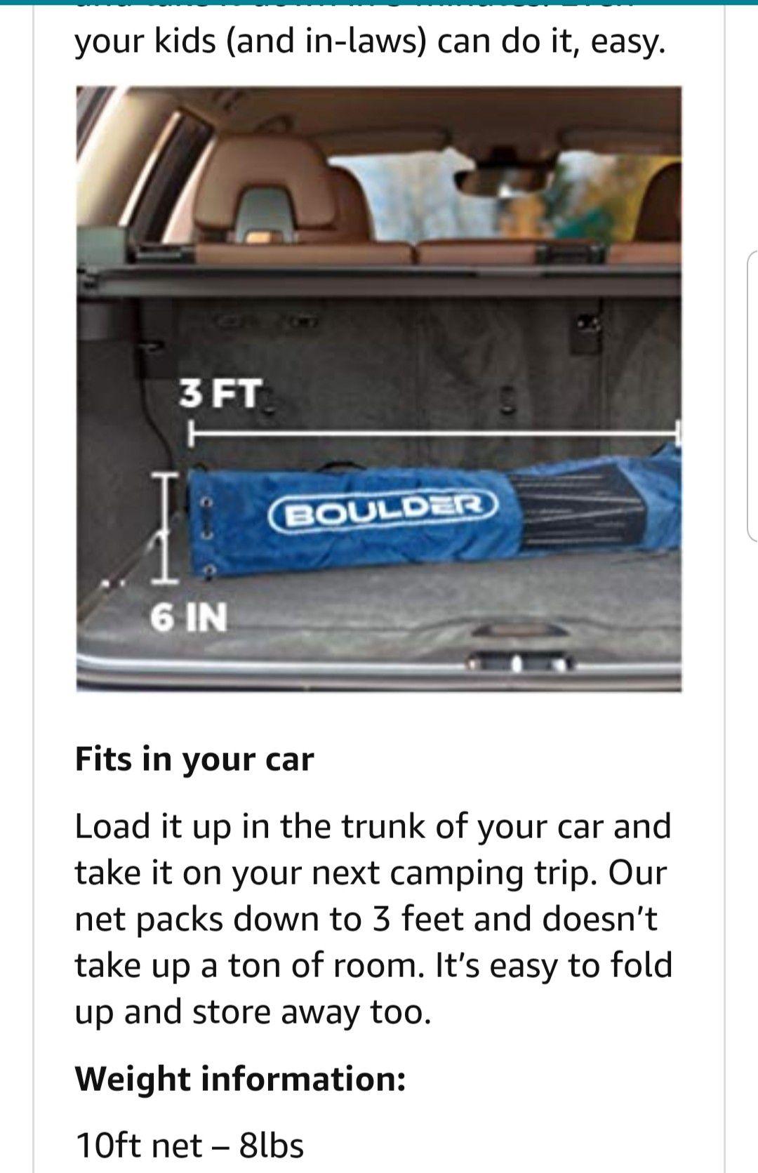 Boulder- Insta Net portable sports net NEW
