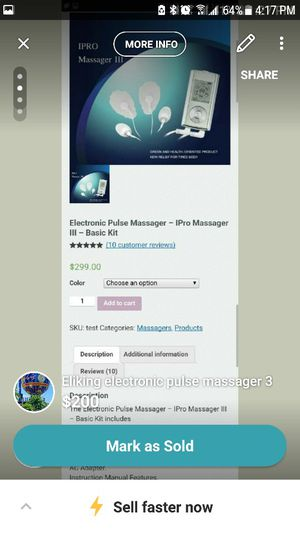 Eliking Electronic Pulse Massager 3 For Sale In Lemoore Ca Offerup