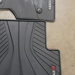 Mazda 3 Genuine Floor Matts OEM Black All Weather Rubber. 2014 - 2018 Thumbnail