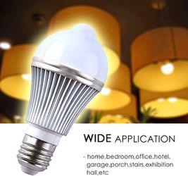 Motion Sensor Led Bulb 5W E27 PIR Infrared Motion Sensor Light Detection Lamp Auto Switch Night Light for Porch Patio Garage Stairs Lobby Carport Corr Thumbnail