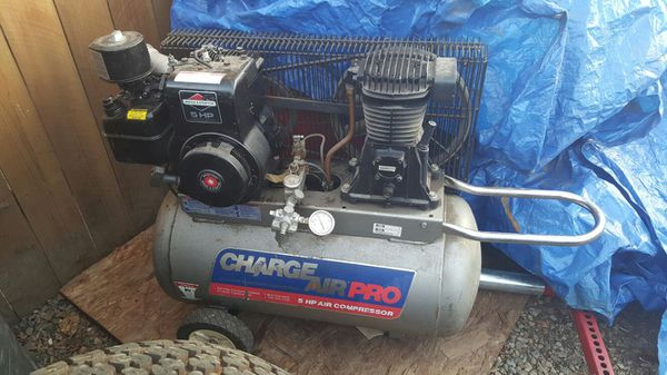 20 gallon 5hp gas charge air pro compressor for sale in carmichael