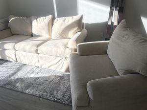 Sofa W Matching Chair Beige Make Offer For In Tampa Fl