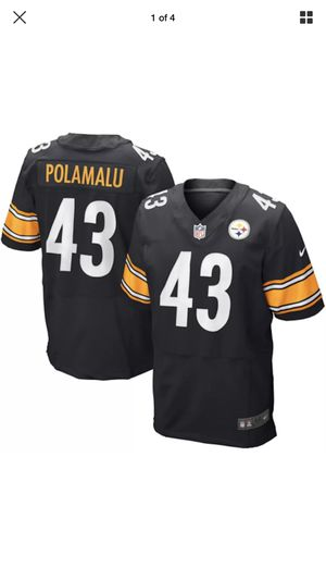 5d3a9d8bedf  295 Nike Pittsburgh Steelers Troy Polamalu Elite Stitched Jersey Men s  Size 52 2XL for Sale in Los Angeles