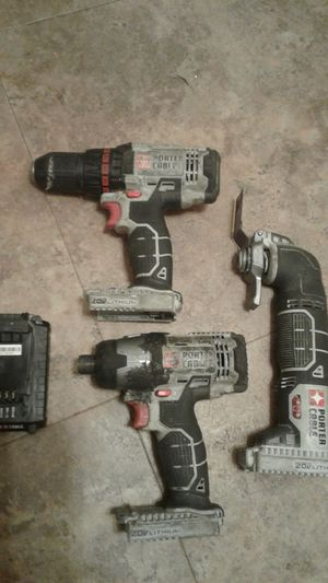 Porter cable 20 volt lithium. 1 battery, impact, drill and grinder/cutoff tool, used for sale  Sapulpa, OK