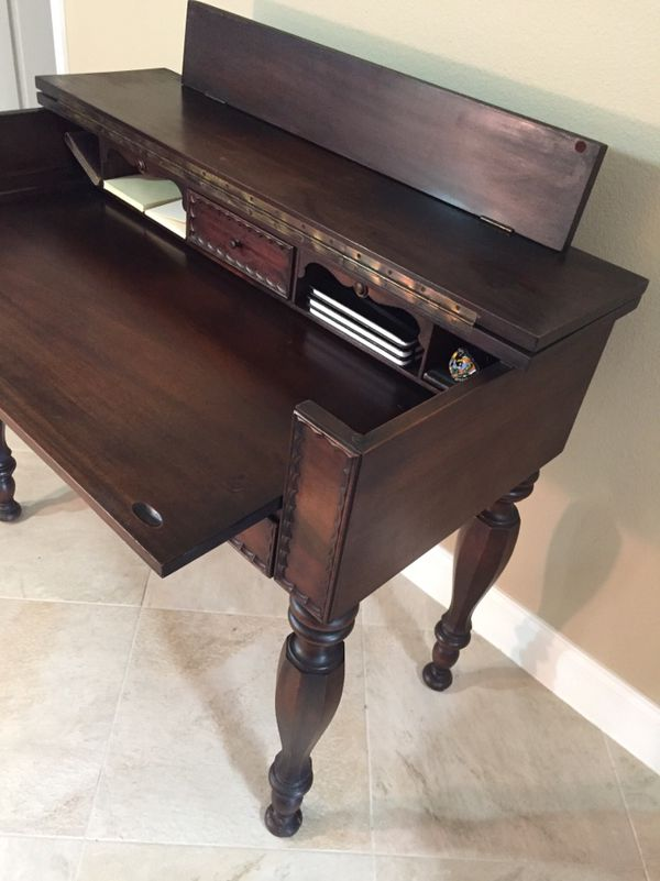 Desk Secretary Or Spinet Top Opens And Closes On A Piano Hinge For In Sarasota Fl Offerup