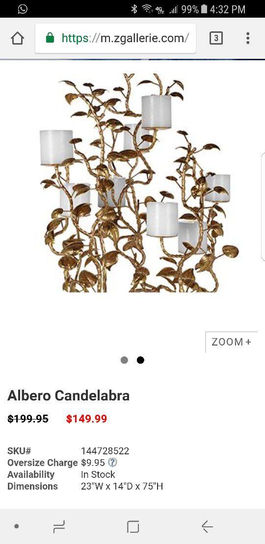 Z gallerie chandelier. Candle holder
