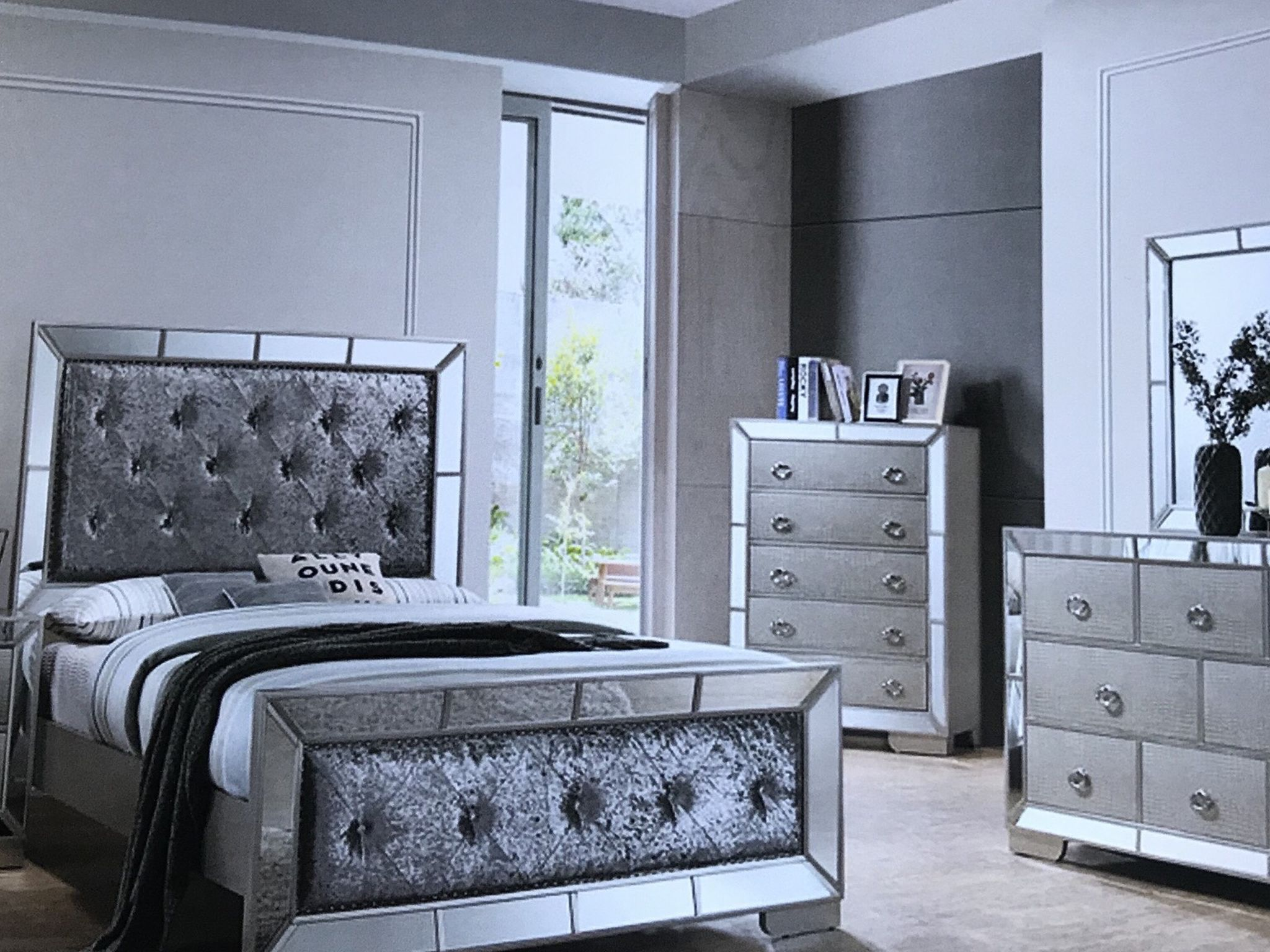 Brand New Queen Size Bedroom Set$$-1499. Financing Available No Credit Needed