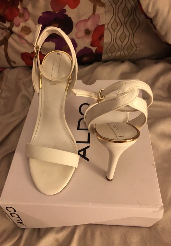 White Aldo Heels