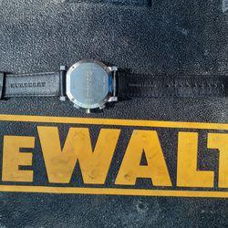 Burberry Men's BU2306 'Trench' Chronograph Black Leather Watch Black Thumbnail