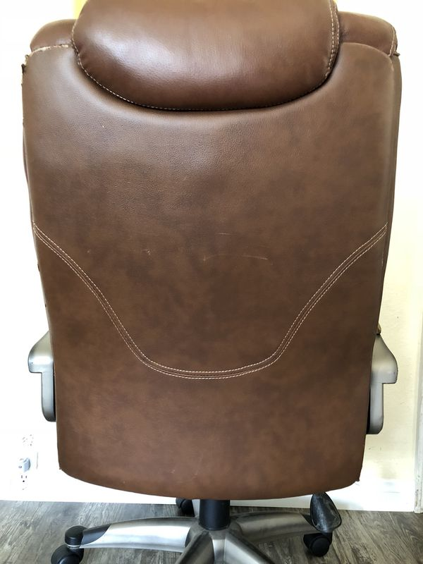 brown leather office chair for sale in la mesa ca offerup