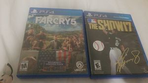 Far cry 5 and MLB 17 for Sale in Kensington, MD
