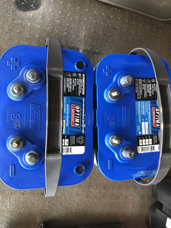 Optima Blue Top >> Optima Blue Top Deep Cycle Batteries 4 Months Old Took Out Of