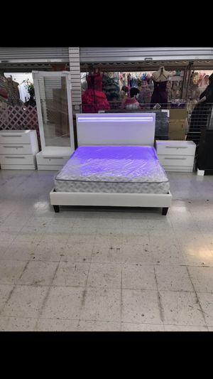 LIGHT LED BEDROO SET 😍 NEW FULL/ QUEEN/ KING JUEGO DE HABITACIÓN CAMA CON LUZ LED for Sale in Coral Gables, FL