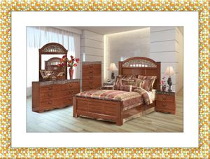 11pc Ashley bedroom set free mattress and shipping for Sale in Oxon Hill, MD