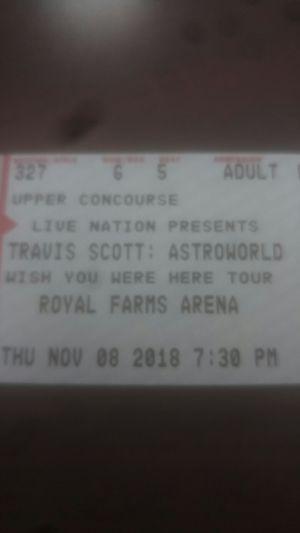 Travis Scott Ticket for Sale in Ellicott City, MD