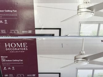 """72"""" Size Ceiling Fans Led With Remote Control Asking $215each Thumbnail"""