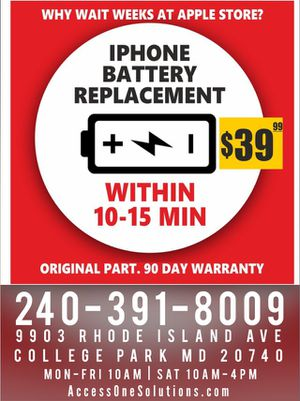 Battery Repair Replacement for Sale in College Park, MD
