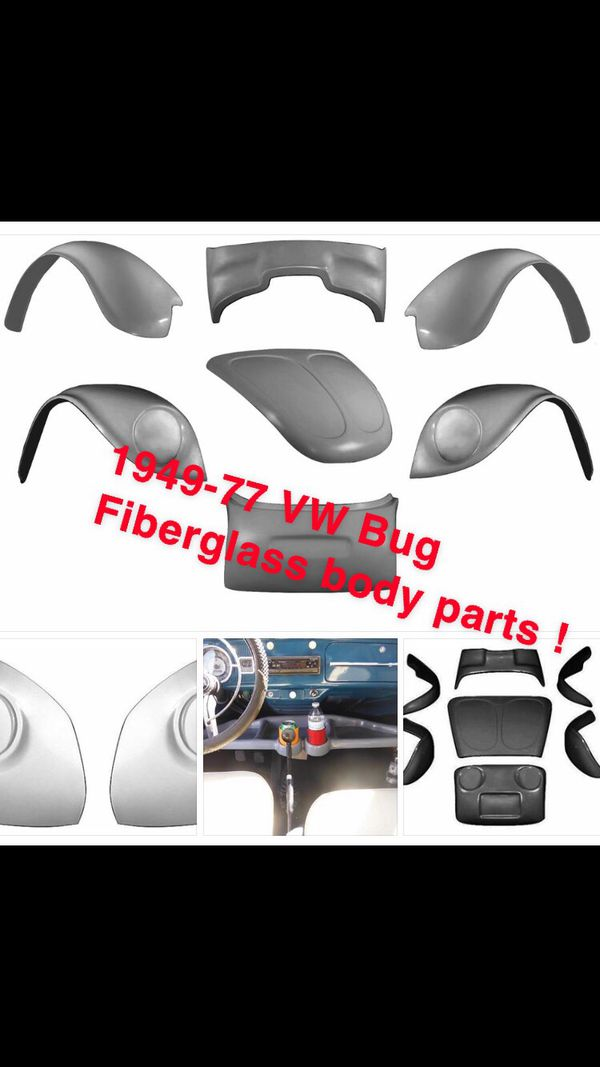 1949-77 VW Bug fiberglass parts new baja fenders hood one piece for Sale in  Henderson, NV - OfferUp