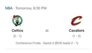 Cavs vs Celtics Playoffs Game 4 Floor Seat Tickets for Sale in Cleveland, OH