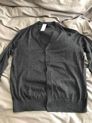 Banana Republic Luxury Blend Button Sweater Grey Size Large for Sale in US