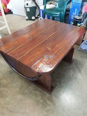 Whiskey barrel coffee table for Sale in Staunton, VA