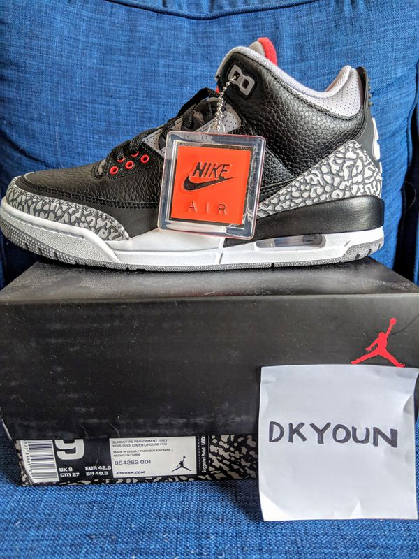 8a9b001d1bb4a6 Jordan 3 Retro Black Cement for Sale in Queens