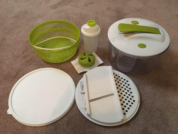 The Sharper Image 5 In 1 Salad Spinner And Slicer For Sale In