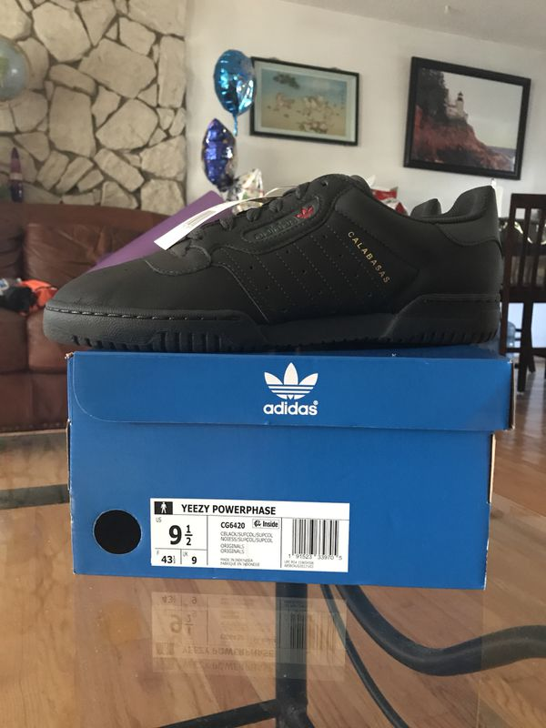 8a3f925ee Size 9.5 Adidas Yeezy Powerphases Calabasas Black (Clothing   Shoes) in  Portland