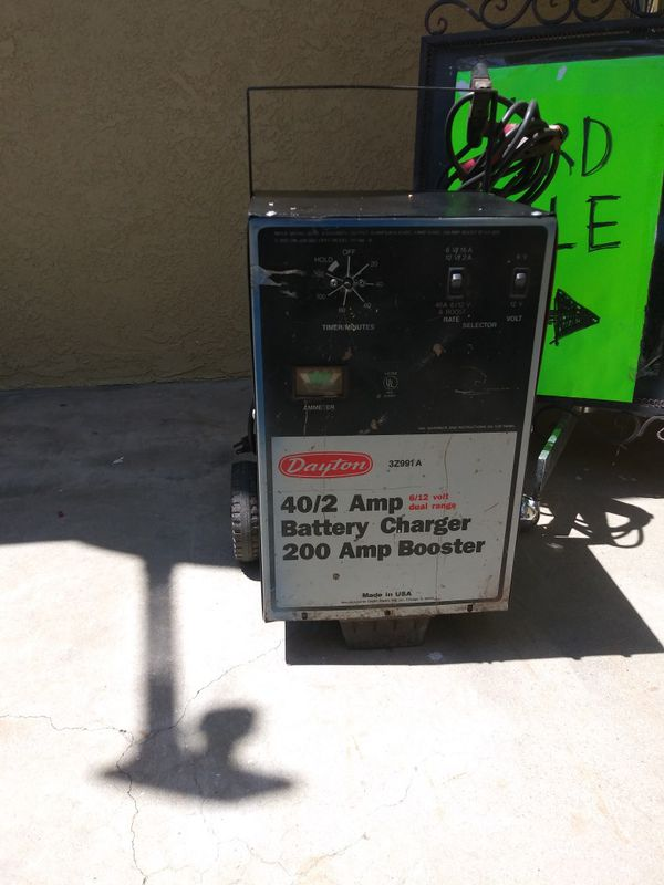 dayton battery chargers and boosters