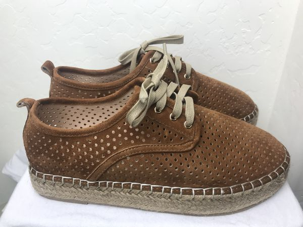 2753772f4a6 Catherine Catherine Malandrino Semi Perforated Lace Platform Espadrille  Women s Size 8.5 (Clothing   Shoes) in Laveen Village