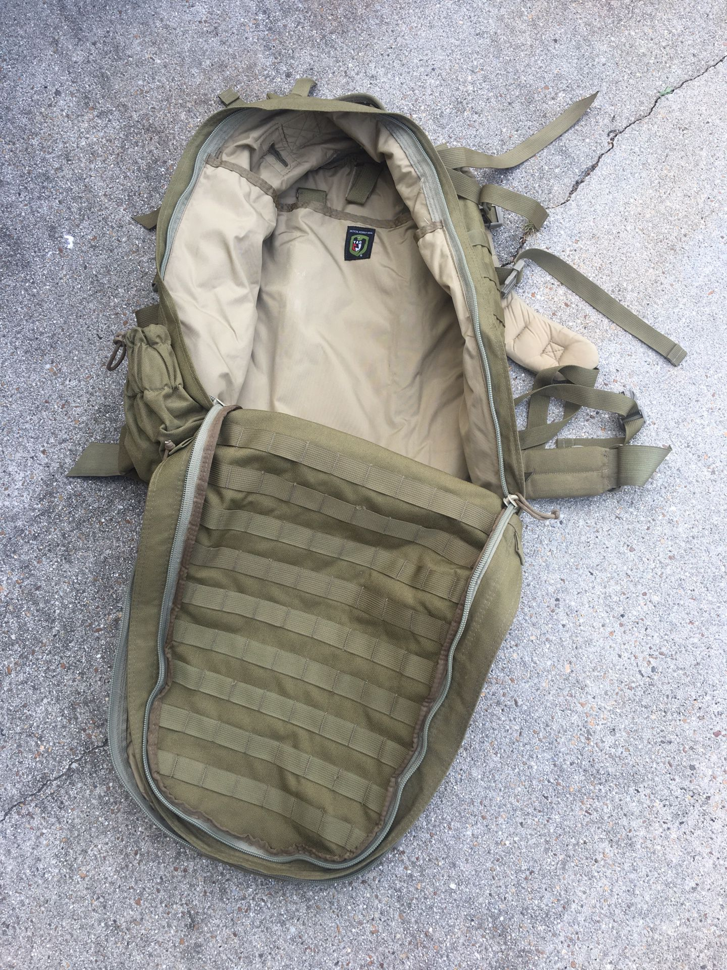 TAG tactical assault gear pack backpack