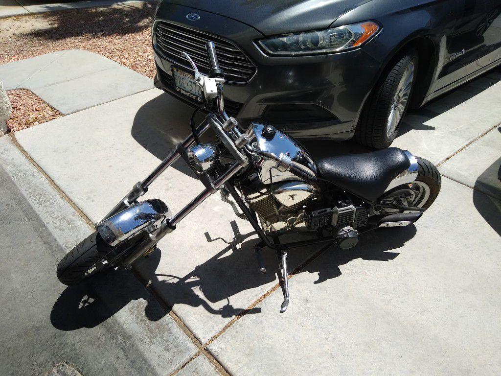 Photo Chrome Mini Chopper Pocket Bike