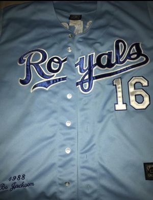AUTHENTIC BO JACKSON STICHED 1988 KANSAS CITY ROYALS JERSEY for Sale in Alexandria, VA