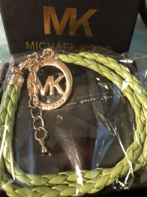 Micheal Kors leather double braided logo bracelet for Sale in Colesville, MD