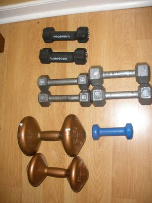 Lots of weights dumbbells for Sale in Midlothian, VA