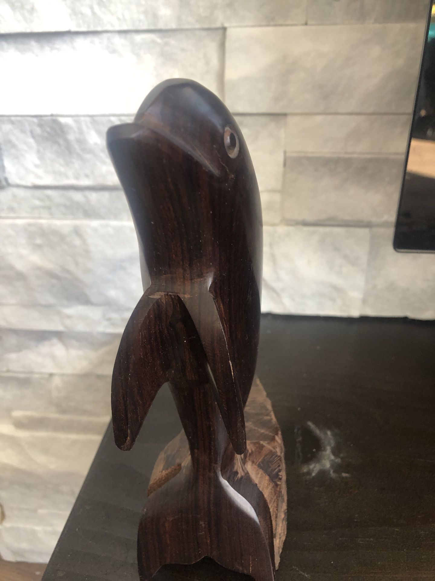 Dolphin : Wooden Figure
