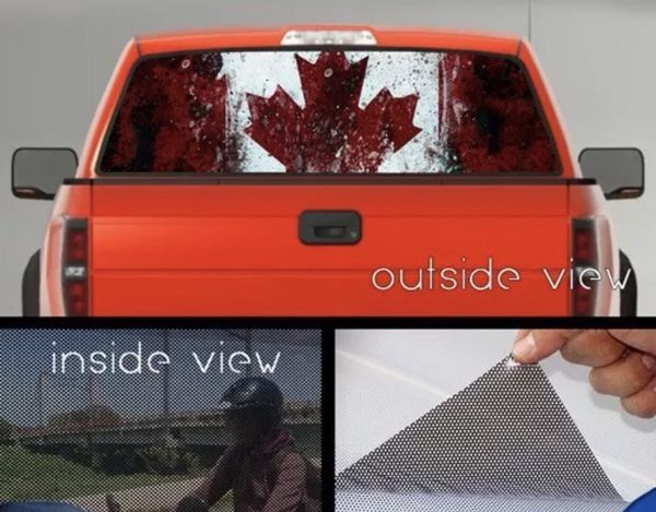 Canadian flag canada perforated vinyl decal truck rear window sticker auto parts in kissimmee fl offerup