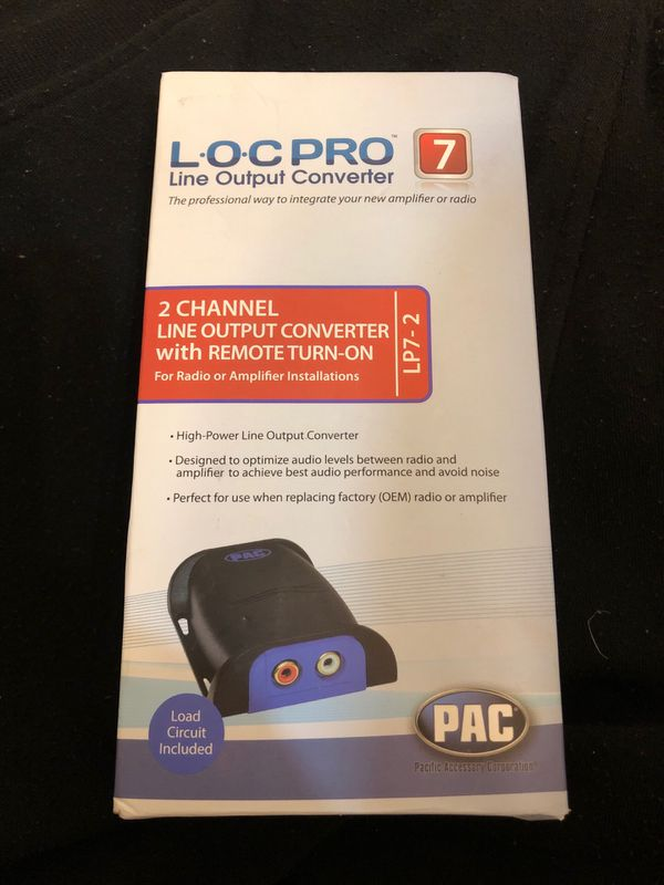 PAC line output converter for Sale in Barrington, IL - OfferUp