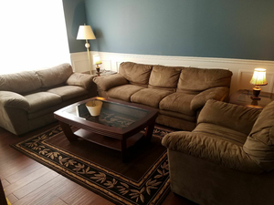 Three Piece Sofa set with tables for Sale in Manassas, VA