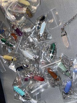 Healing chakra crystals necklaces Thumbnail