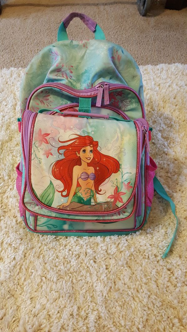 f54031e3bd0 Child s Disney Ariel backpack and lunchbox for Sale in Gervais