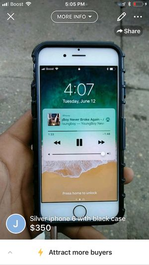 iPhones 6s with boost i take my I cloud out and u put ur own was a sprint phone but I paid off and got it with boost for Sale in Baltimore, MD