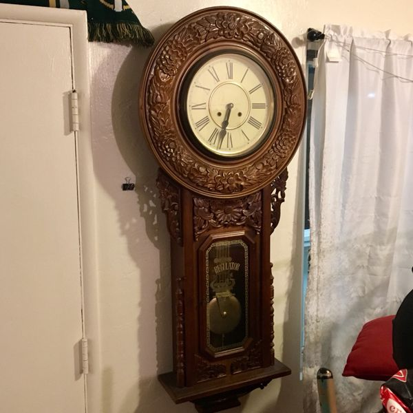 Antique Regulator Pendulum Wall Clock